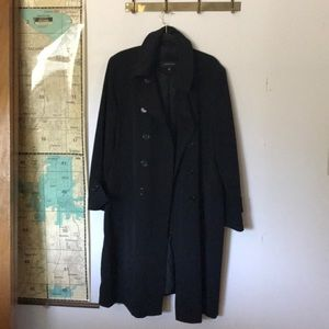 Jones New York  black rain resistant trench
